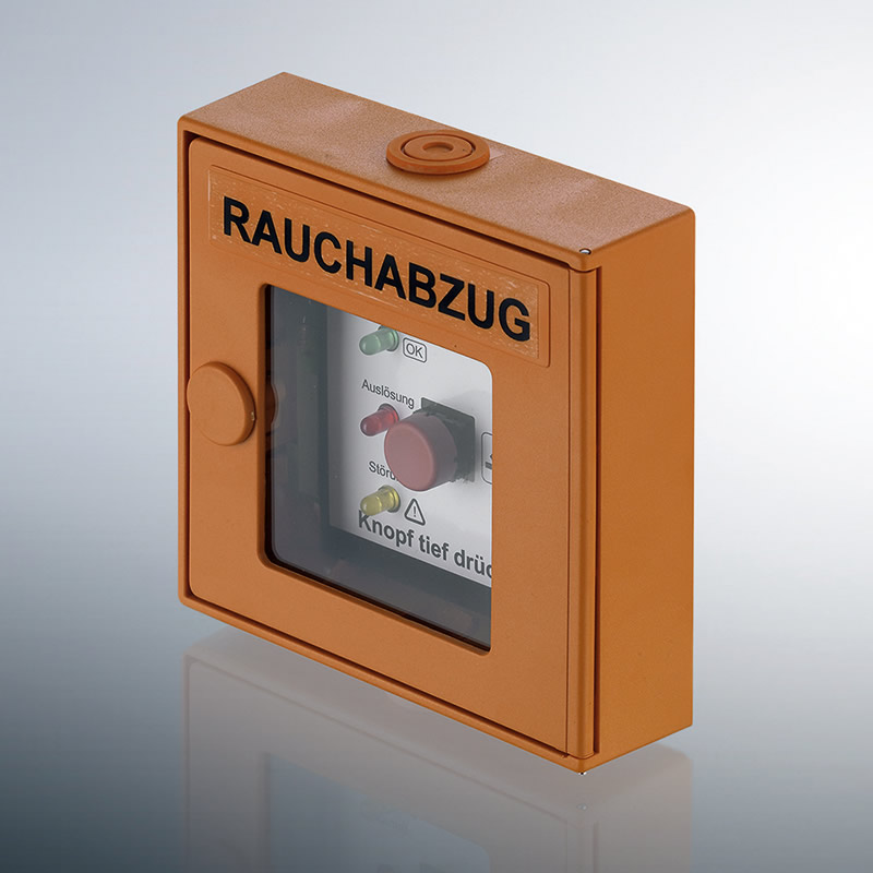 Rauchabzug (RWA)  Taster in Orange