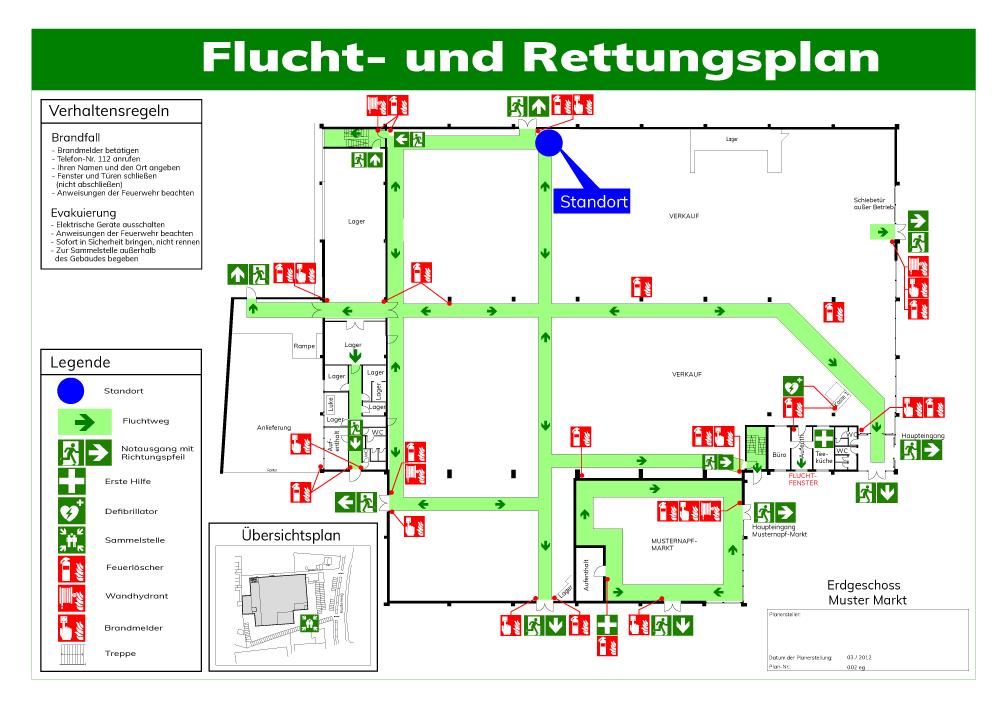 Flucht- und Rettungsplan | Erstellung und Planung